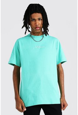 Jade green Tall Man Signature T-shirt
