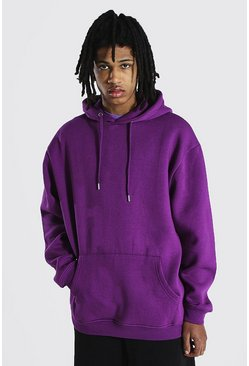 Purple Tall Basic Oversized Hoodie