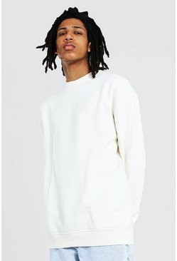 Ecru white Tall Basic Crew Neck Sweater