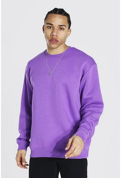 Purple Tall Basic Oversized Sweater