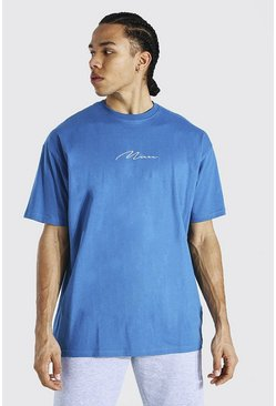 Blue Tall Man Signature Oversized T-shirt