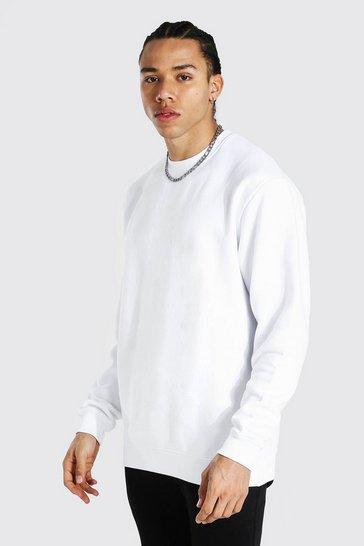 White Tall Basic Oversized Sweater