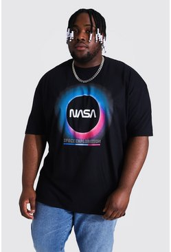 Black Plus Size Nasa Eclipse License T-shirt