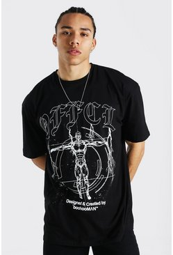 Black Tall Official Oversized T-shirt