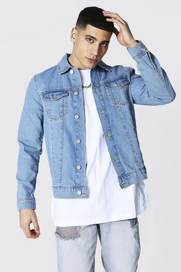Light blue blue Regular Fit Denim Jacket