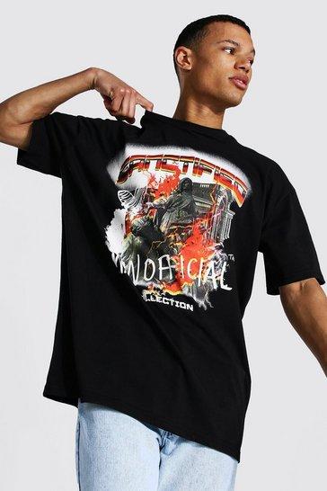 Black Tall Man Official Oversized T-shirt