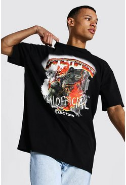 Black Tall Man Official Oversized T-shirt