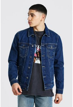 Mid blue blue Regular Fit Denim Jacket