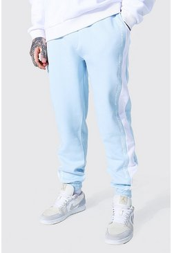 Regular Man Official Side Panel Jogger, Blue azzurro