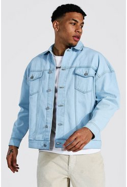 Ice blue Boxy Fit Denim Jacket