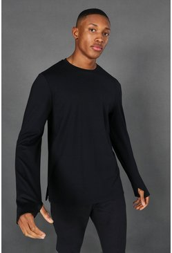 MAN Active Premium Yoga Long Sleeve Top, Schwarz
