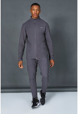 Charcoal grey Man Active Zip Through Tracksuit