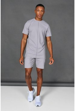 Taupe beige Man Active Short Tracksuit