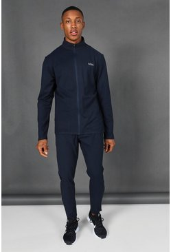 Navy Man Active Zip Through Tracksuit