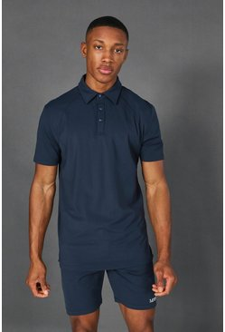 Navy Man Active Premium Yoga Polo