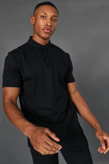 Black Man Active Yoga Polo Top