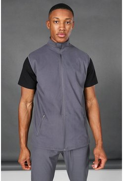 Charcoal grey Man Active Gilet