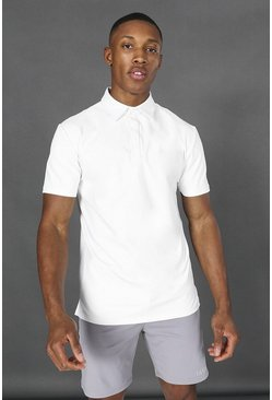 Top polo da yoga MAN Active Premium, Bianco