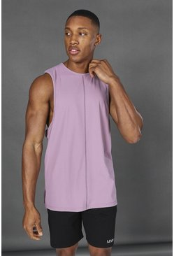 Soft pink pink Man Active Yoga Side Split Tank Top