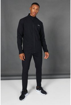 Black Man Active Zip Through Tracksuit