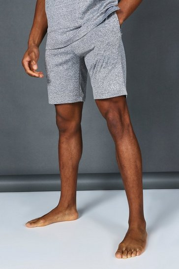 Grey Man Active Marl Yoga Shorts