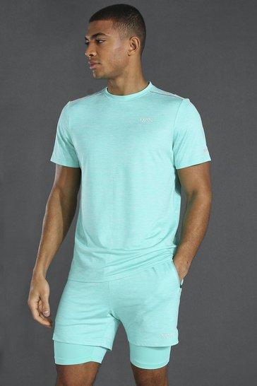Mint green Man Active Lightweight Marl T-shirt