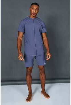 Dusty blue blue Man Active Short Tracksuit
