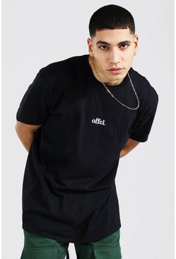 T-shirt oversize Official, Black noir