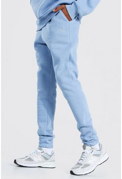 Dusty blue blå Tall - Official Joggers i tjockt tyg