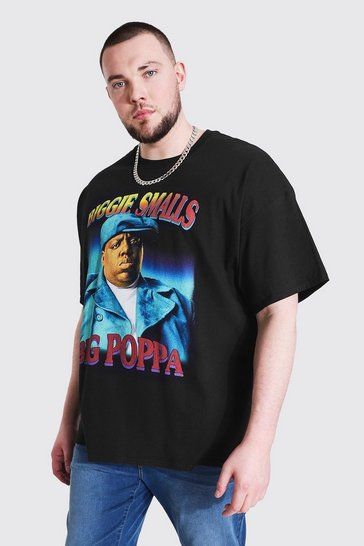 Black Plus Size Biggie Smalls Poppa License T-shirt