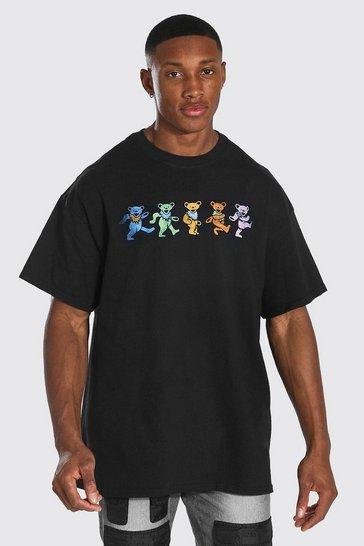 Black Oversized Grateful Dead License T-shirt