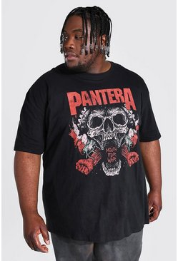 Black Plus Size Pantera License T-shirt