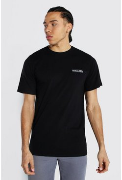 Black Tall Man Official T-shirt With Rubber Tab