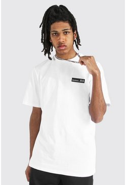 White Tall Man Official T-shirt With Rubber Tab