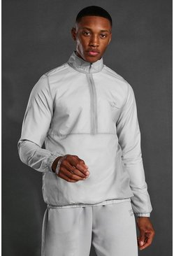 Grey Man Active Translucent 1/2 Zip Running Jacket