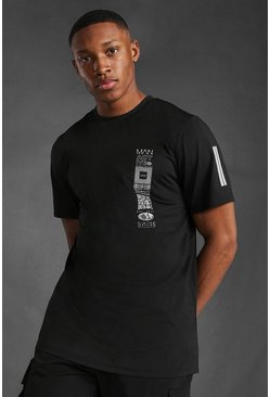 Black Man Active Graphic T-shirt
