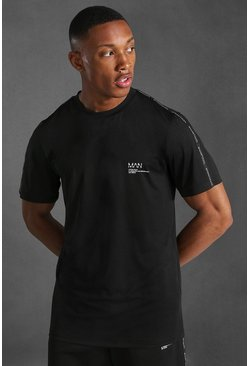 Black Man Active Taped T-shirt