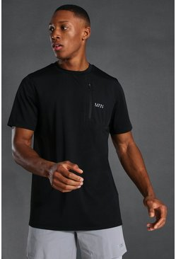 Black Man Active Pocket T-shirt