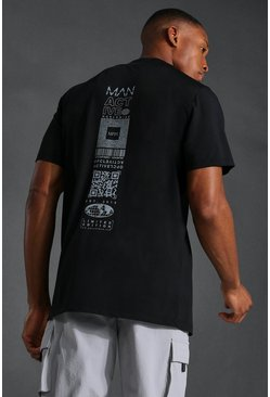 Black Man Active Reflective Graphic T-shirt