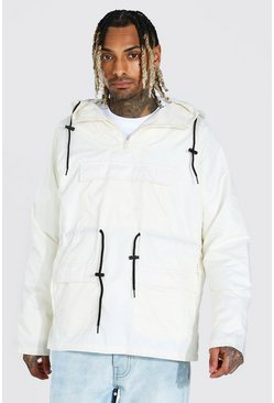 Off white white Lightweight Overhead Multi Pocket Parka