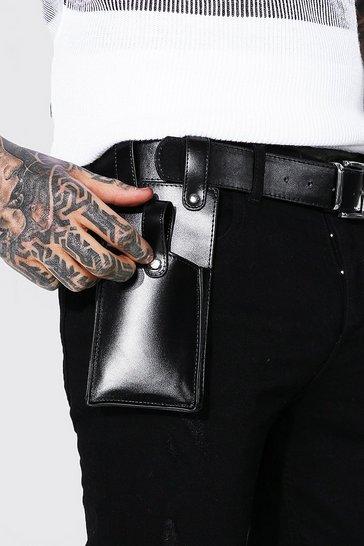 Black Pu Belt With Holster