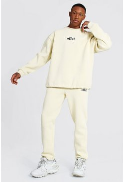 Sand beige Oversized Offcl Extended Neck Toggle Tracksuit