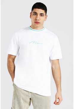 White Man Signature Sports Rib Neck T-shirt