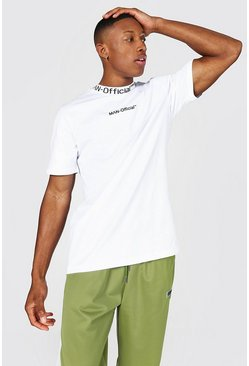 White Man Official Jacquard Neck T-shirt