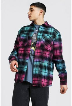 Multi Oversized Ombre Check Shirt