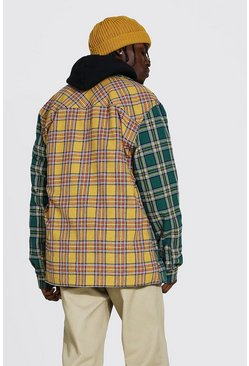Multi Back Spliced Check Overshirt