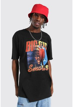 Black Oversized Biggie Split License T-shirt