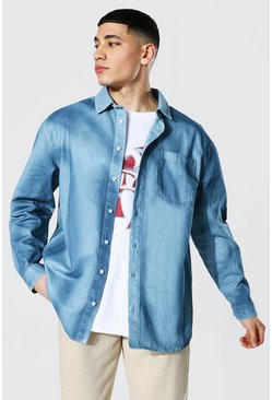 Multi Rigid Tie Dye Denim Shirt
