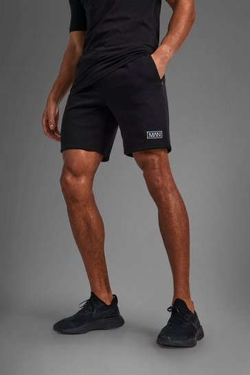 Black Man Active Training Shorts