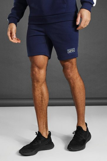 Navy Man Active Training Shorts